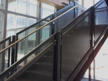 Perforated metal balustrade commercial build Christchurch manufacture Metalcraft Engineering