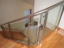 Internal stair balustrade and handrail measure fabricate and install by Metalcraft Engineering Christchurch