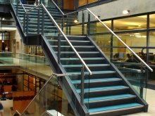 Internal stair handrail and balustrade University of Canterbury made by Metalcraft Engineering