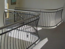 Architectural metalwork handrail and balustrade custom designed in Christchurch
