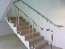 Stailess steel handrail new build Christchurch