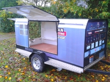 Metalcraft Engineering welder trailer marketing site display trailer