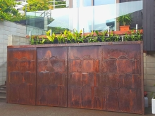Metalcraft Engineering COR-TEN laser cut ranch screens Christchurch