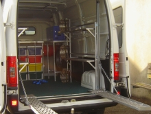 Metalcraft Engineering custom design van fitout for race go carts Christchurch