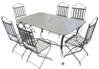 Garden furniture metal table and chairs